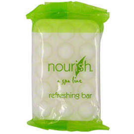 Nourish® Massage Soap Bar Green Tea Flo Wrap 1.75 oz. 200/Case