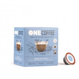 OneCoffee Decaf Dark Roast Coffee Single Serve Cups 72/Case