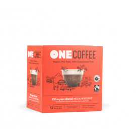 OneCoffee Ethiopian Coffee Single Serve Cups 72/Case