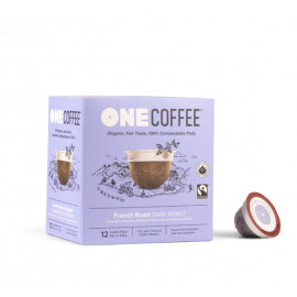 OneCoffee French Roast Coffee Single Serve Cups 72/Case
