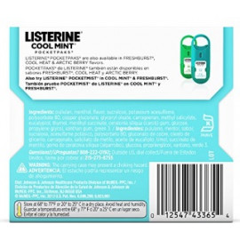 Listerine Cool Mint Pocketpaks Breath Strips, 24-Strip pack of 12