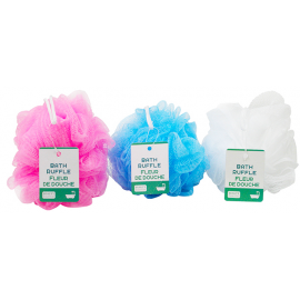 Bath Loofah Ruffle Assorted 3/Pack