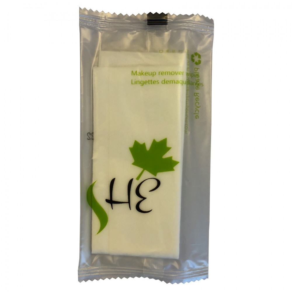 Hospitality Emporium Makeup Remover wipes for Hotels,Inns, Vacation rentals, Resorts in Eco Friendly Wrap Packaging 12/Pack