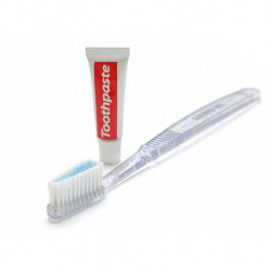 Hotel Toothbrush and Toothpaste