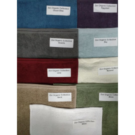 Zen 100% Certified Organic Cotton Face Towels 13x13 wt.1.40 lbs/dz Natural 12/Pack