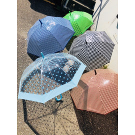 Promotional Solid colored Stick PVC umbrellas 6/Pack