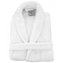 Dolly Fleece Robes & Velour slippers couple Gift set