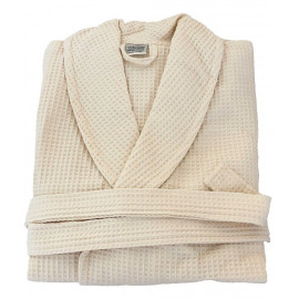 Hotel spa Robes Waffle Weave Shawl Collar, Beige Unisex XL Size 1/Pack