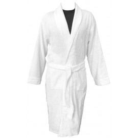 Hotel Spa Robes Terry Full Shawl Collar White Unisex 100% Cotton 1/Pack