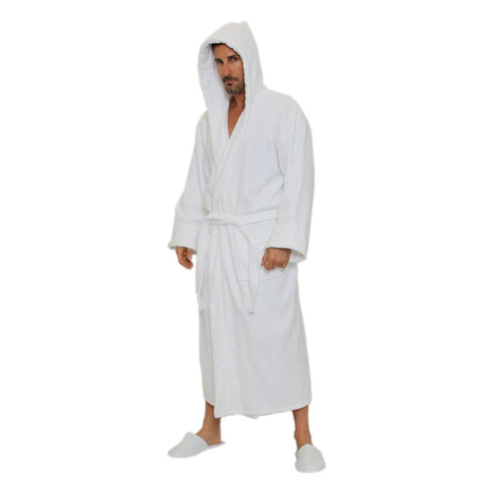 new varieties limited quantity so cheap Hotel spa Robes Luxury Velour Plush Hooded Style, white ...