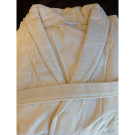 Hotel spa Robes Velour Shawl Collar, Beige Unisex  2/Pack