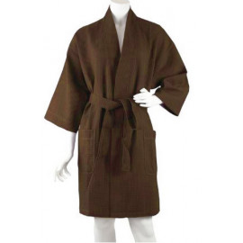 Knee Length Waffle Kimono Robes Multi-color 6/Pack