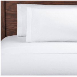 "Adonis T-200 Premium Percale Double FITTED Sheet 54""x 80""x 12"" White 6/Pack"