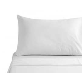 "Merit Collection TC300 Luxury Sateen Finished Percale Queen Pillowcase 36""x 21"" White 2/Pack"