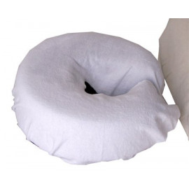 Spa Flannel 100% Cotton Head Rest Covers Fitted Seamless White 3/Pack