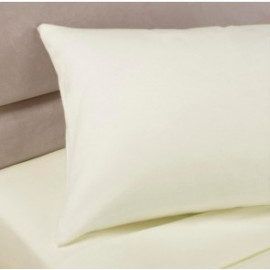 "Pillow Cases 100% Cotton  Flannel  White, Ivory Twin Size 30""x 21"" Pack of 6"