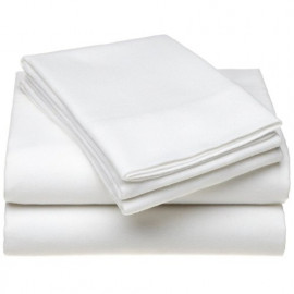 "Adonis TC200 Premium Percale Queen FITTED Sheets 60""x 80""x15"" White 2/Pack"