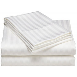 Merit Collection T-260 Striped Percale Hospitality Sheets