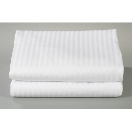 "Thomaston Mills T-250 Striped Percale Queen FLAT Sheet 92""x120"" Made in USA 2/Pack"