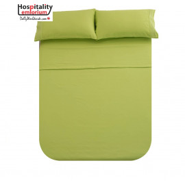 Solid Bed 4 Pieces Microfiber Deep Pocket Sheet sets King Size Green