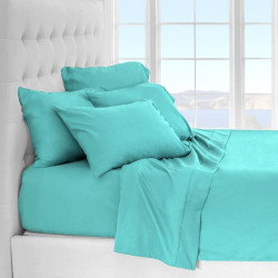 Microfiber Sheet Sets with Deep pockets- Hypoallergenic Blue Color
