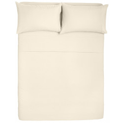 Microfiber Sheet Sets with Deep pockets- Hypoallergenic Cream Color