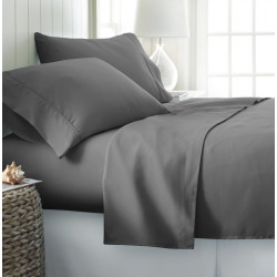 Microfiber Sheet Sets with Deep pockets- Hypoallergenic Grey Color