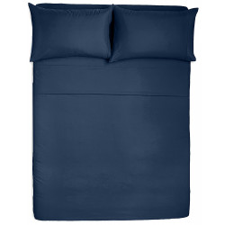 Microfiber Sheet Sets with Deep pockets- Hypoallergenic Navy Color