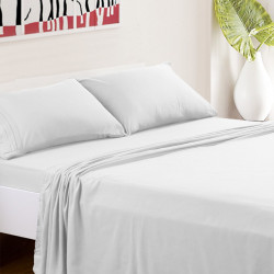 Microfiber Sheet Sets with Deep pockets- Hypoallergenic White Color