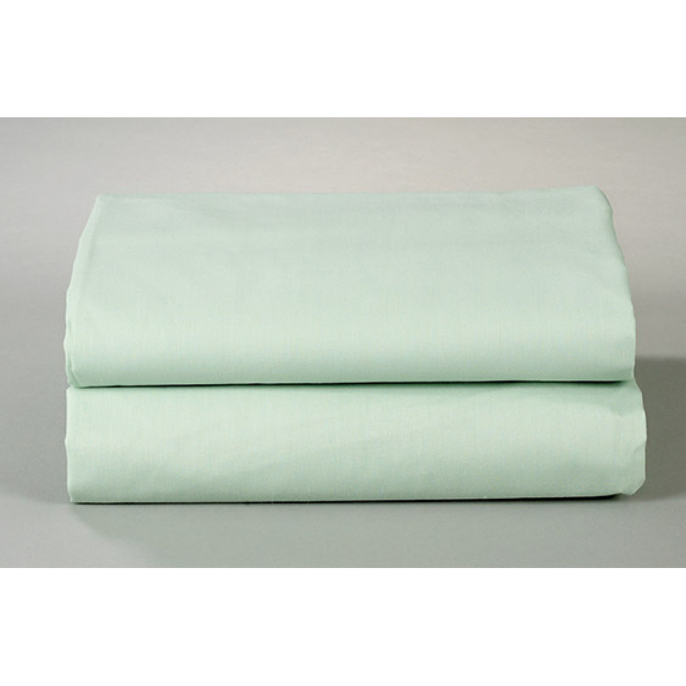 "Thomaston Mills T-180 Percale Standard Pillowcase Size 32""x 21"" Made in USA Green 6/Pack"
