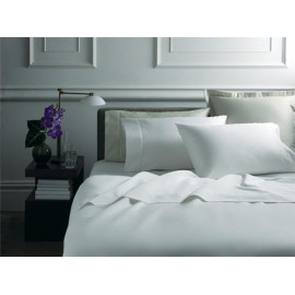 "Adonis TC200 Premium Percale King FLAT Sheets 110""x120"" White 2/Pack"
