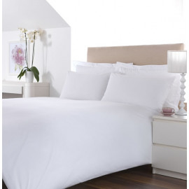 "Merit Collection Luxury TC300 Sateen Finished Percale Queen FITTED Sheets 60""x80""x15"" White 1/Pack"