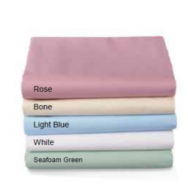 Massage Sheets TC180 Percale (60%C-40%P) Flat/Fitted Made In USA Rose Color 6/Pack