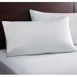 "Thomaston Mills T-180 Percale Pillowcase King 42""x 21"" Made in USA White 6/Pack"