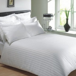 Full Size Sheets Stripe TC260 Luxury Percale (60%C-40%P) Flat/Fitted 2/Pack