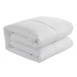 "Duvet Comforter All Season Microfiber Shell 100% Polyfill King Size 88"" x 104"" White 2/Pack"