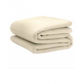 "Fleece Blanket Cozy 100% Polyester TWIN size 72""x 90"" Ivory/Tan Pack of 2"