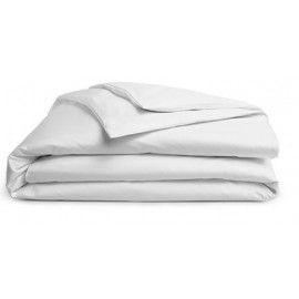 "Merit Collection TC 300 Sateen w/ FLAP Duvet Cover Twin 88""x 66"" size White 1/Pack"