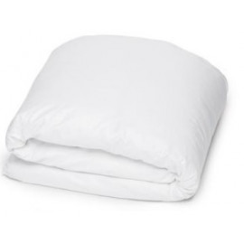 "Merit Collection TC 300 Sateen w/ FLAP Duvet Cover Queen 90""x 90"" Size White 1/Pack"