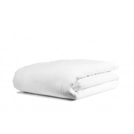 "Merit Collection TC 300 Sateen w/ ZIPPER Duvet Cover Double 90""x 82"" Size White 1/Pack"