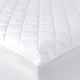 "Contour Luxury T-250 Mattress Pads/Topper Twin XL size 39""x 80"" x 15"" Fitted Elastic Finish White 2/Pack"