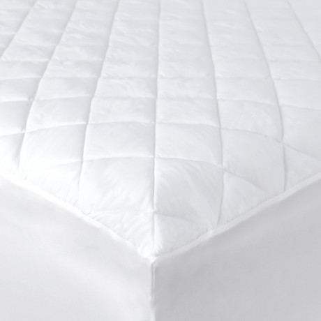 "Contour Luxury T-250 Mattress Pads/Topper Queen size 60""x 80""x15"" Fitted Elastic Finish White 2/Pack"