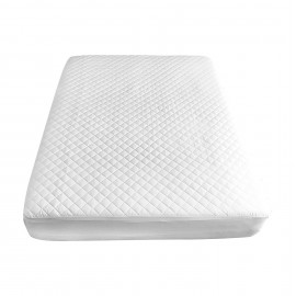 "Mattress Pads/Topper TC180 Contour Premium Twin 40""x 76"" x 15"" White Fitted Elastic Finish 2/Pack"