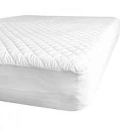 "Contour Premium Mattress Pads/Topper Twin 40""x 76"" x 15"" Fitted Elastic Finish White 2/Pack"
