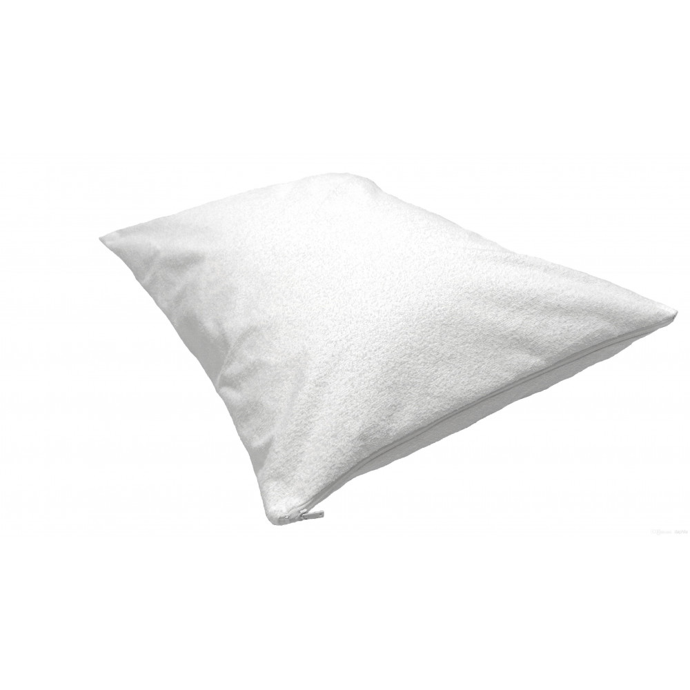 Dolly Fleece Lining Bed bug & Waterproof Hypoallergenic Pillow Protector Zippered Standard 20x28 White 2/Pack