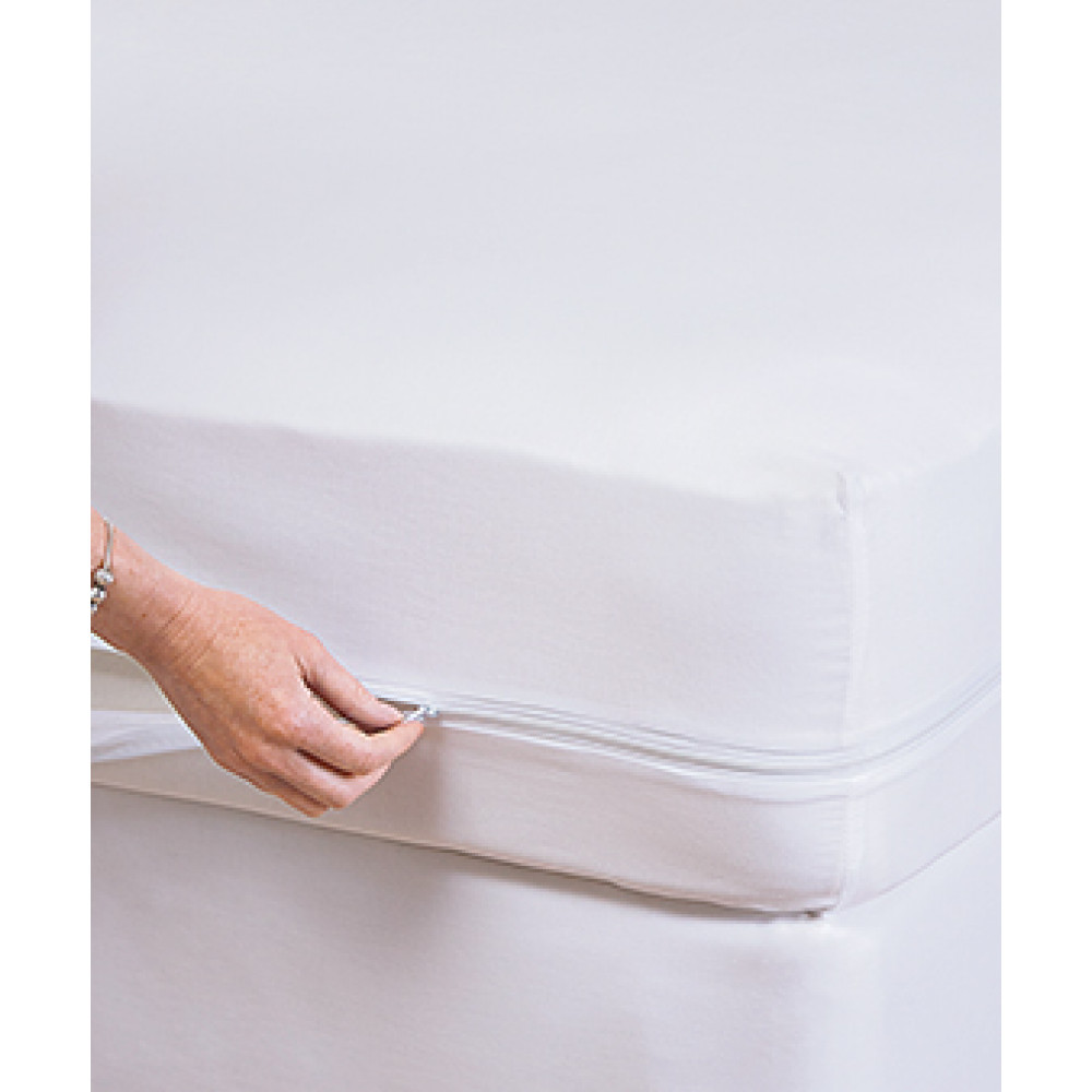 "Fleece Luxury Waterproof Bed bug hypoallergenic Mattress / Box Spring Encasements Twin Size 39""x 78"" x 15"" White 1/ Pack"