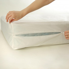 "Waterproof Bed bug Mattress / Box Spring Encasements Zippered Twin Size 39""x 80""x 9"" White 2/Pack"