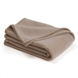 "Vellux Blanket Original King Size 108""x 90"" Tan Pack of 2"