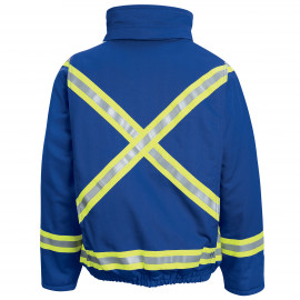 Bulwark Lined Nomex Bomber Jacket With Reflective Trim Royal Blue