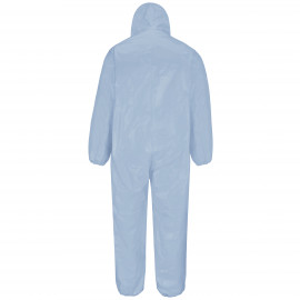 Bulwark FR Chemical Splash Hooded Disposable Flame-resistant Coverall Sky Blue 4/Pack